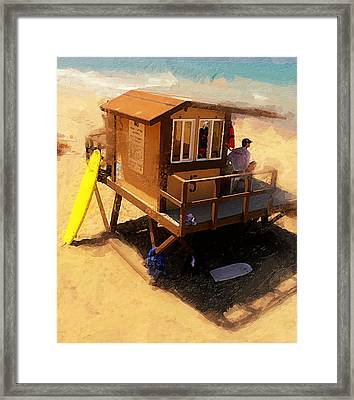 The Ocean Guard Framed Print by Ron Regalado
