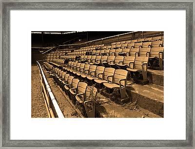 The Old Ballpark Framed Print by Frank Romeo