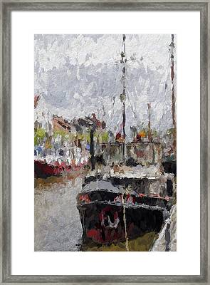 The Old Harbor Framed Print by Stefan Kuhn