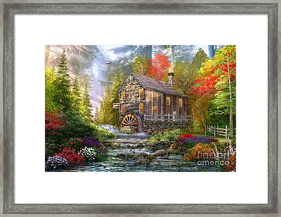 The Old Wood Mill Framed Print by Dominic Davison