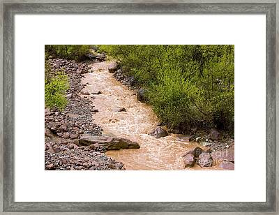 The Ourika River In Spate Framed Print by Bob Gibbons