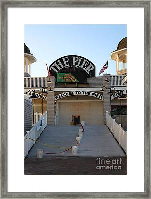 The Pier Framed Print by Michael Mooney