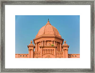 The Pink Colored Ahsan Manzil Palace Framed Print by Michael Runkel