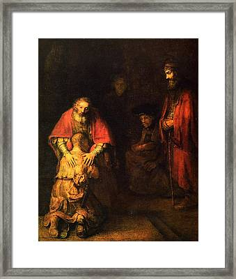 The Prodigal Son Framed Print by Rembrandt