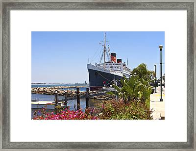 The Queen Mary Long Beach California. Framed Print by Gino Rigucci