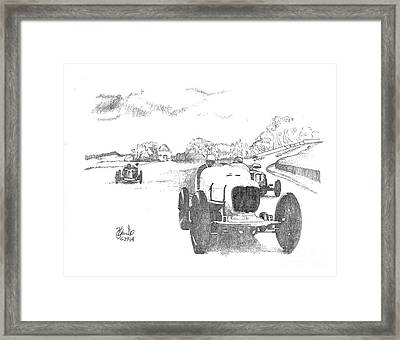 The Finish Framed Print by Andrew Cravello