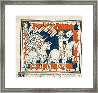 The Rider On White Horse Framed Print by British Library