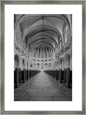 The Riverside Church Framed Print by Susan Candelario