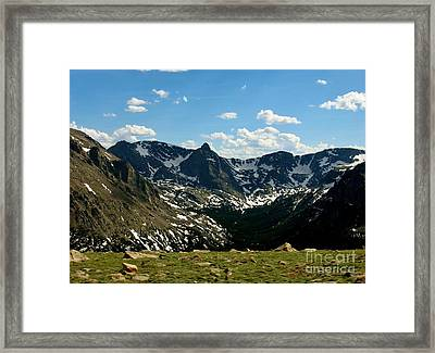 The Rockies Framed Print by Barbara Bardzik