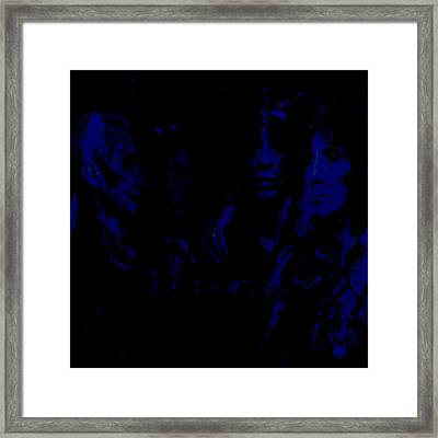 The Rolling Stones Paint Splash Framed Print by Brian Reaves