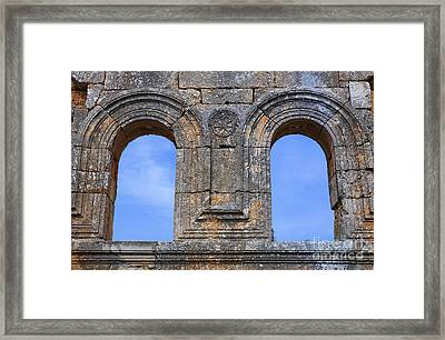 The Ruins Of The Church Of St Simeon Syria Framed Print by Robert Preston