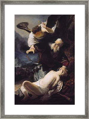 The Sacrifice Of Abraham Framed Print by Celestial Images