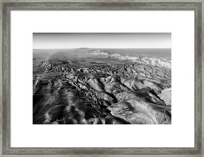 The San Andreas Fault Framed Print by Mountain Dreams
