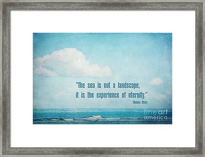 The Sea Framed Print by Angela Doelling AD DESIGN Photo and PhotoArt