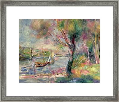 The Seine At Argenteuil Framed Print by Pierre Auguste Renoir