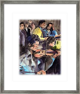 Clare   The Session Framed Print by Val Byrne