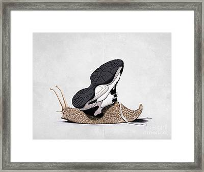 The Sneaker Wordless Framed Print by Rob Snow