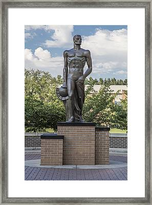 The Spartan Statue At Msu Framed Print by John McGraw