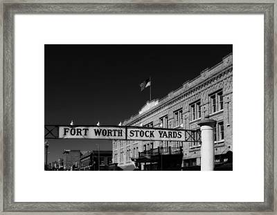 The Stock Yards Of Fort Worth Framed Print by Mountain Dreams