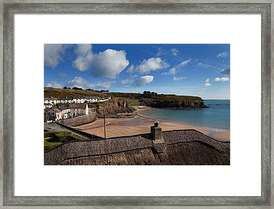 The Strand Inn And Dunmore Strand Framed Print by Panoramic Images