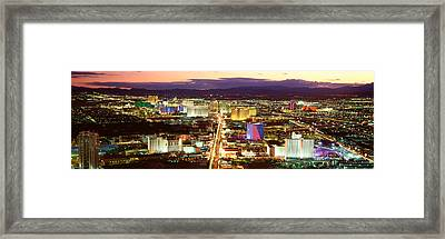 The Strip, Las Vegas Nevada, Usa Framed Print by Panoramic Images