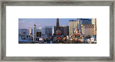 The Strip Las Vegas Nv Framed Print by Panoramic Images