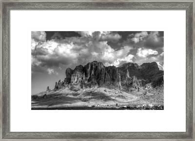 The Superstition Mountains  Framed Print by Saija  Lehtonen
