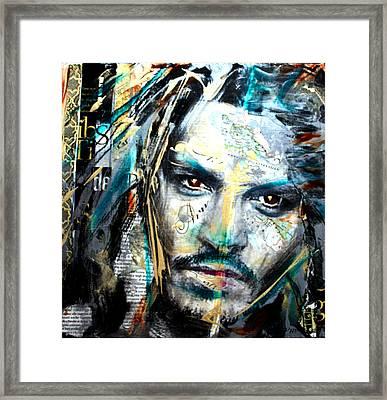 The Talented Mr. Depp Framed Print by Penelope Stephensen