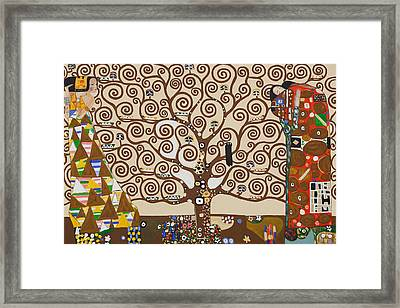 The Tree Of Life Framed Print by Celestial Images