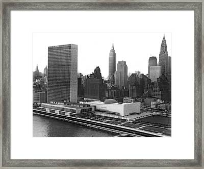 The United Nations Building Framed Print by Underwood & Underwood