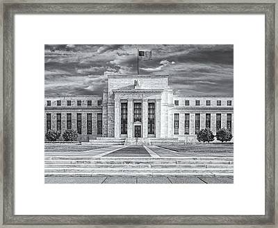 The Us Federal Reserve Board Building Framed Print by Susan Candelario
