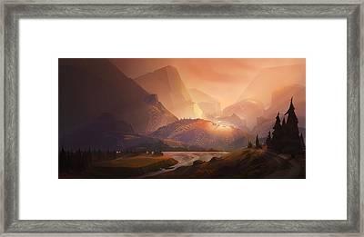 The Valley Framed Print by Kristina Vardazaryan