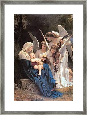 The Virgin With Angels Framed Print by William Bouguereau