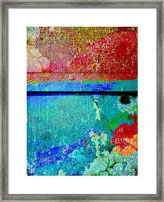 The Wall Abstract Photograph Framed Print by Ann Powell