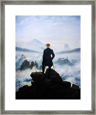 The Wanderer Above The Sea Of Fog Framed Print by Celestial Images