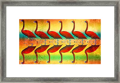 The Wandering Swan  Framed Print by Toppart Sweden