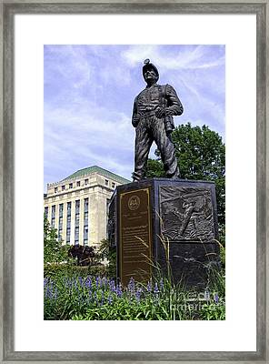 The West Virginia Coal Miner Framed Print by Thomas R Fletcher