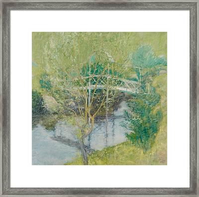 The White Bridge Framed Print by John Henry Twachtman