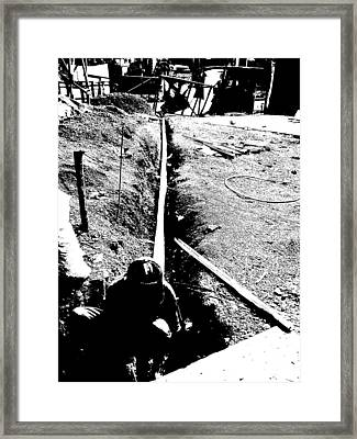 The Worker Framed Print by Duane Blubaugh