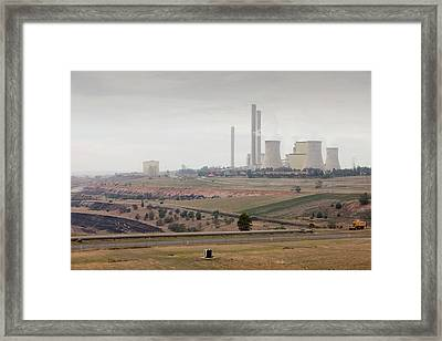 The Yan Lang Coal Fired Power Station Framed Print by Ashley Cooper