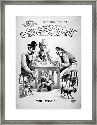 Theater Poster, C1898 Framed Print by Granger