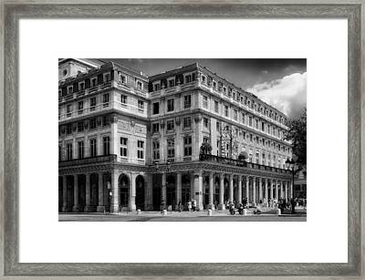 Theatre Of The Comedie Francais In Paris Framed Print by Mountain Dreams