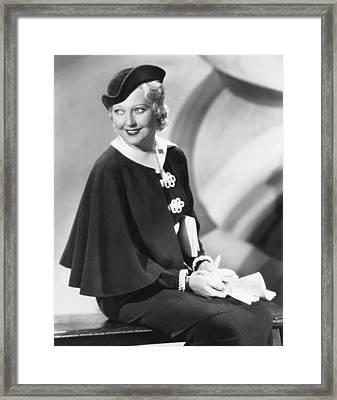 Thelma Todd, 1934 Framed Print by Everett