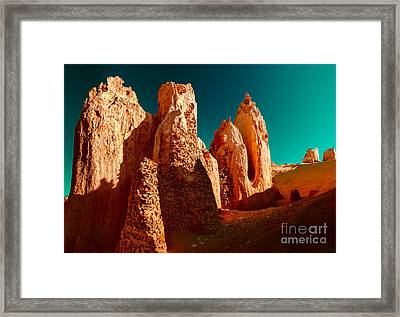 Then And Now Framed Print by Julian Cook