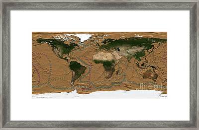 Thermohaline Circulation, Artwork Framed Print by Nasa