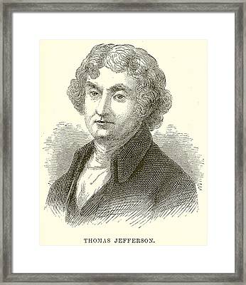 Thomas Jefferson Framed Print by English School