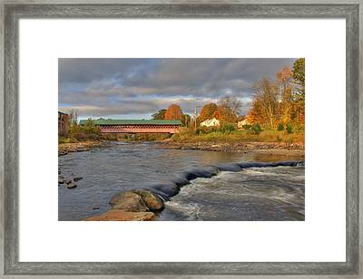 Thompson Covered Bridge 2 Framed Print by Joann Vitali