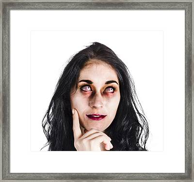 Thoughtful Zombie Framed Print by Jorgo Photography - Wall Art Gallery