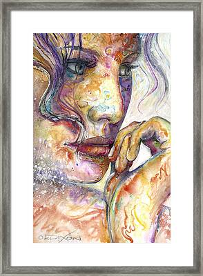 Thoughts Framed Print by Frank Robert Dixon