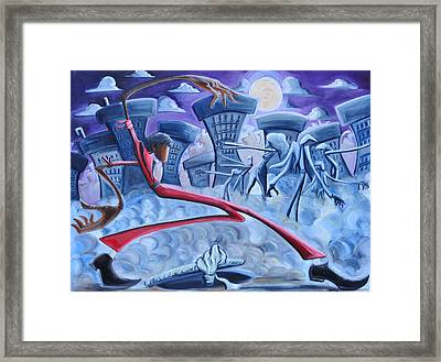 Thriller Framed Print by Tu-Kwon Thomas